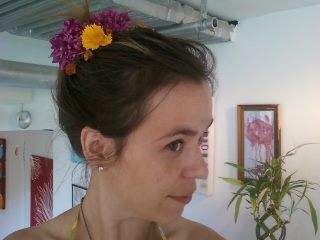 Things were Blooming in my hair! Such fun...